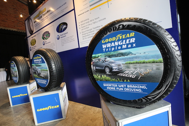"The Goodyear Wrangler TripleMax is available in 16"", 17"" and 18"" rim diameter variants and retails from RM443.72 to RM675.22 inclusive of GST, depending on different sizes"