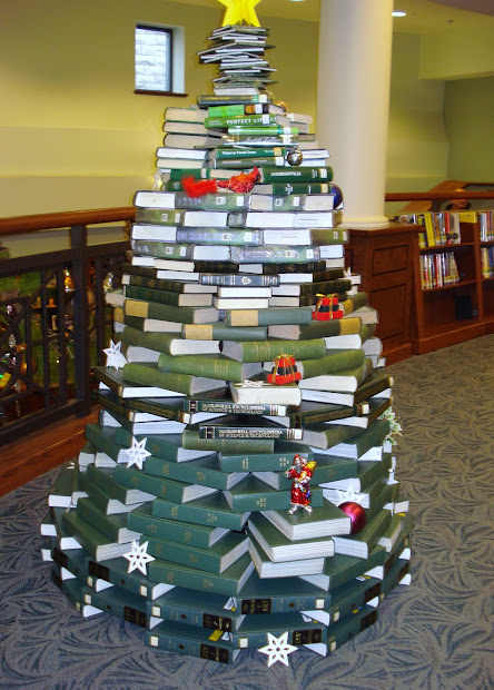 library book christmas tree decorations - Library Christmas Decorations