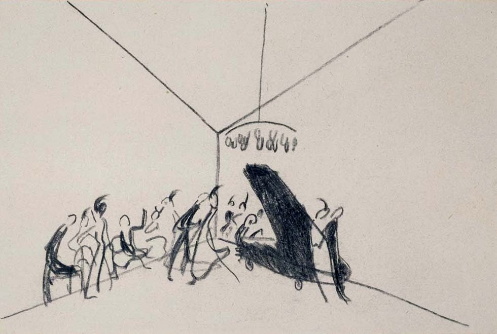 Vassily Kandinsky, 1º boceto para Impresión III (Concierto) (1911), Centro Pompidou, París