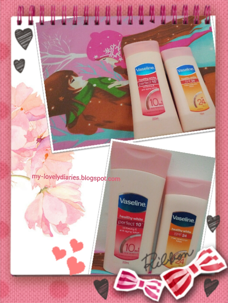 Review Vaseline Healthy White Spf 24 Pa Triple Protection Lotion Perfect 10 200ml Twin Pack My Lovely