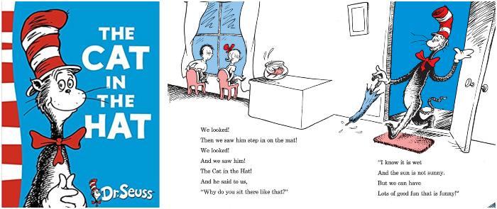 los mejores cuentos y libros infantiles en inglés The cat in the hat, dr. seuss