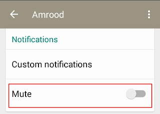 whatsapp mute notifications
