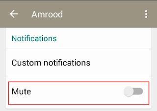 whatsapp mute notifications