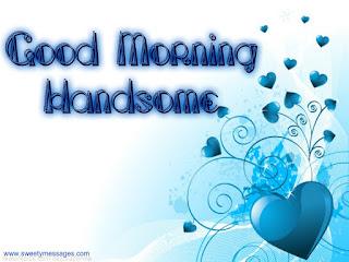 good morning handsome image