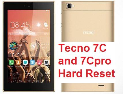 Tecno 7C and Tecno 7CS Hard Reset