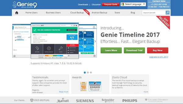 Genie backup manager reviews