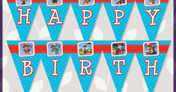 free printable paw patrol birthday banner