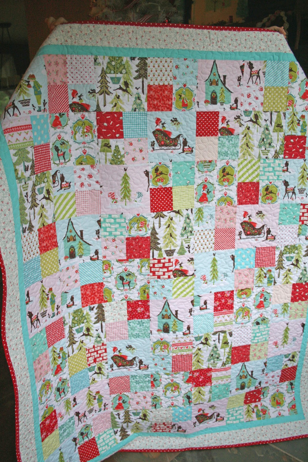 Lovely Little Handmades The Patchwork Christmas Quilt