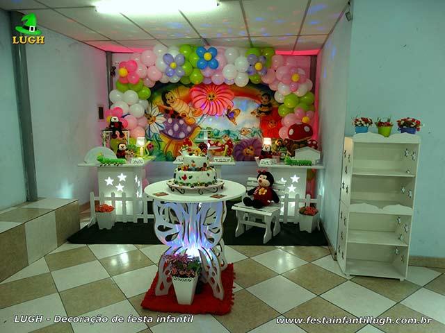 Mesa temática aniversário de 1 ano - Decoração infantil Jardim Encantado provençal