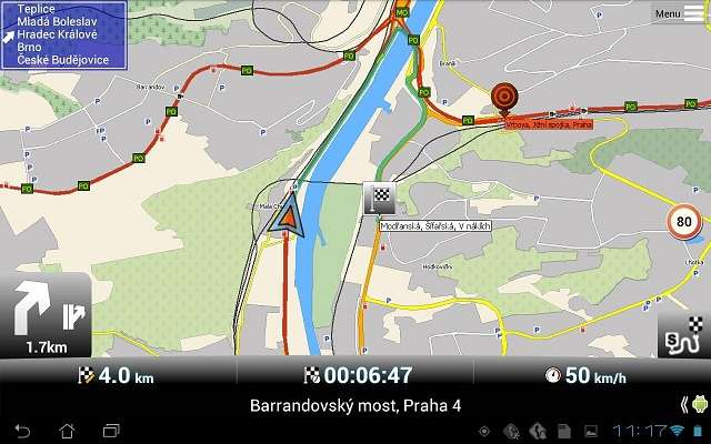 التطبيق MapFactor: GPS Navigation