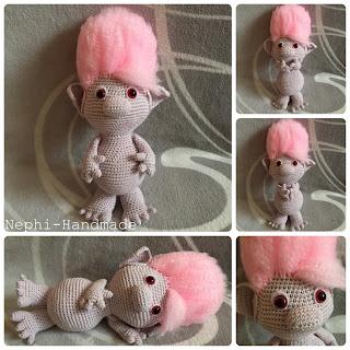 Trolli gehäkelt, crochet Trolli