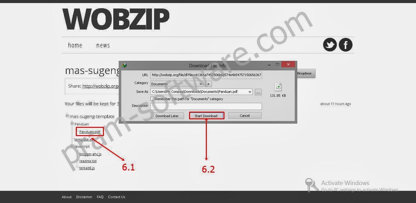 Download File yang Telah Di Ekstrak