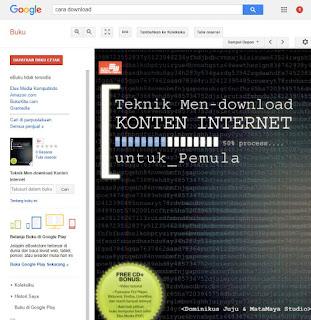 Cara Download Buku Google Gratis (Google Book) Forteknik.com