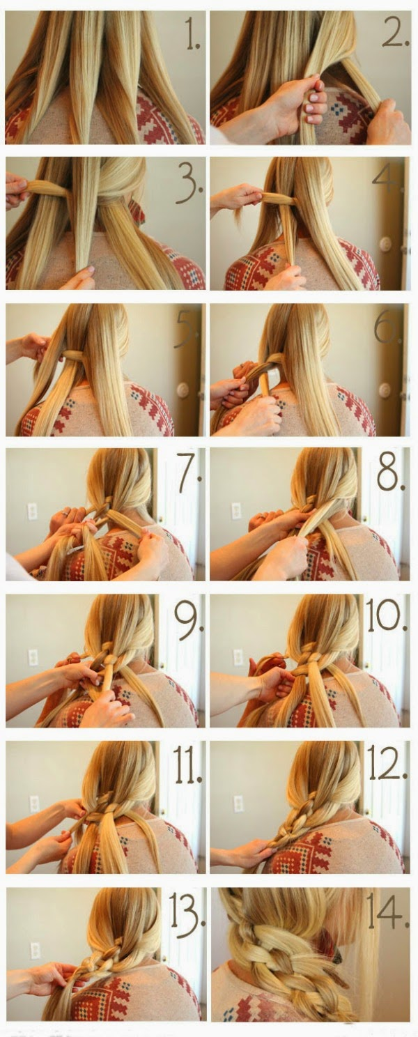 How to Do a Perfectly Messy 5-Strand Braid