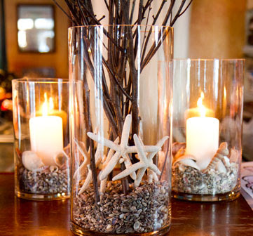 10 Pillar Candle Holder Ideas With A Beach And Coastal