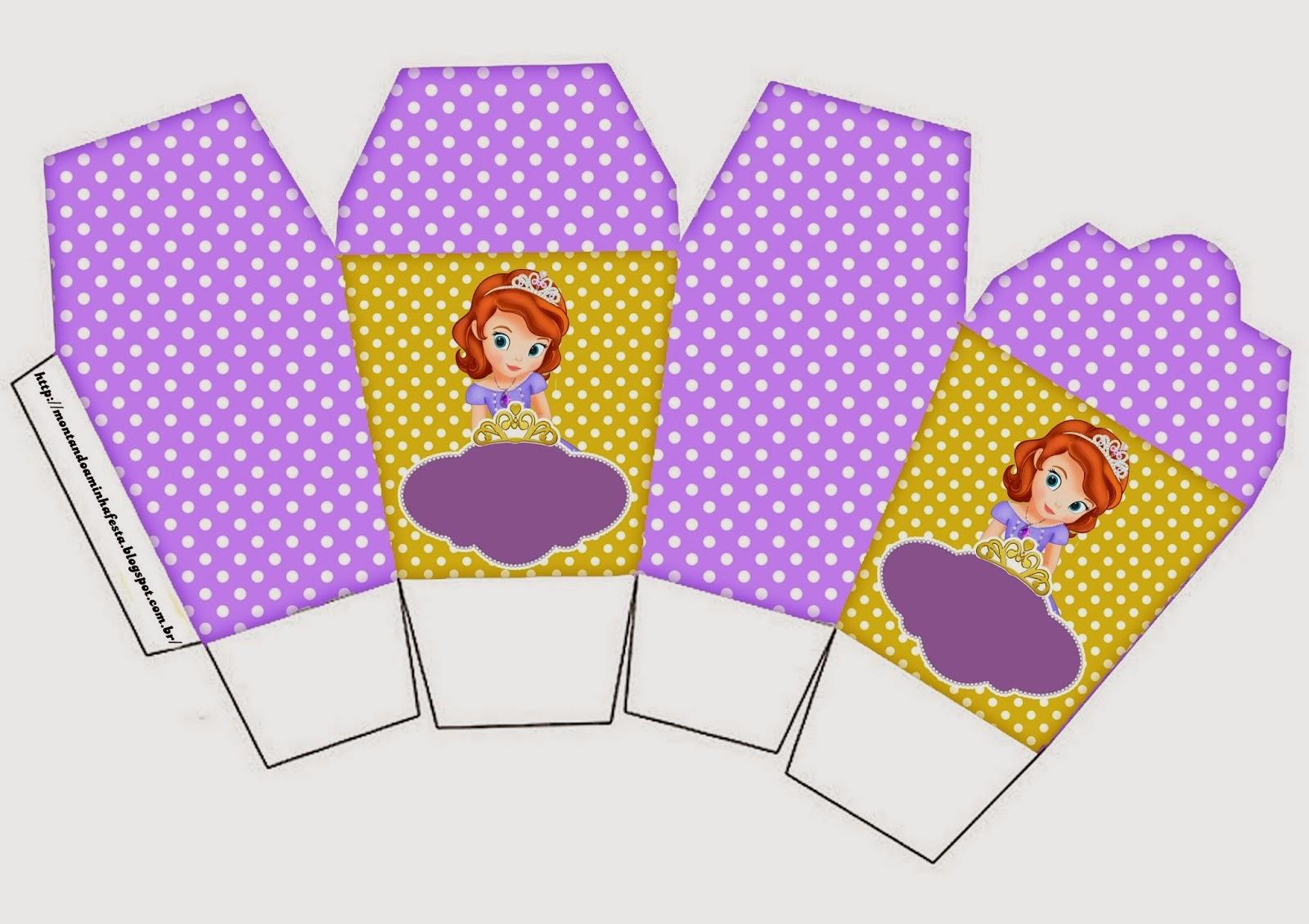 Fiesta de Princesa Sofía: Cajas para Imprimir Gratis. | Ideas y ...