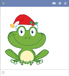 Santa Frog Sticker for Facebook