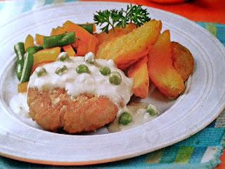 Gambar Resep Burger Ayam Saus Krim Keju