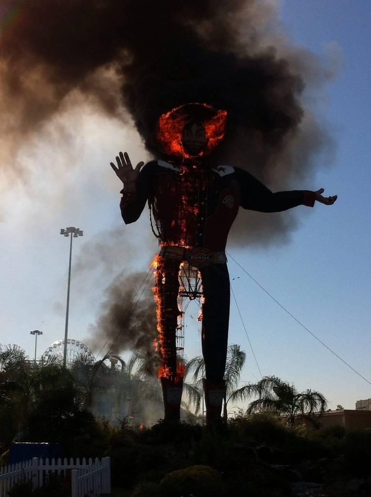 Big Tex Burns Fire Destroys Texan Cultural Icon Kuriositas