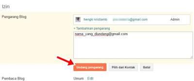 cara mengganti admin blogspot menjadi pemilik blog (admin) baru