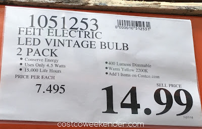 Deal for the Feit Electric LED Vintage Style Bulbs at Costco