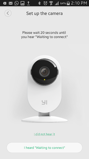set up the yi camera