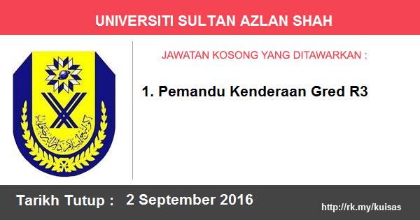Jawatan Kosong di Universiti Sultan Azlan Shah