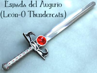 Espada fantástica del augurio Thunder cats