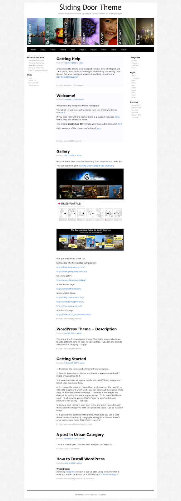 Sliding Door WP Themes