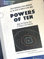 Powers of Ten, superimposed on Intermeidate Physics for Medicine and Biology.