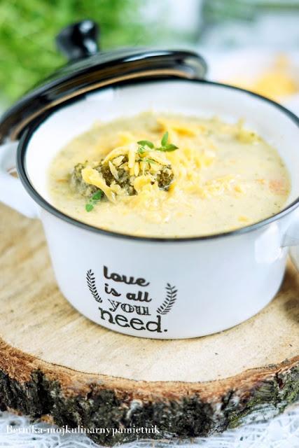 zupa, poltino, krem, ser, brokuly, groszek, bernika, kulinarny pamietnik
