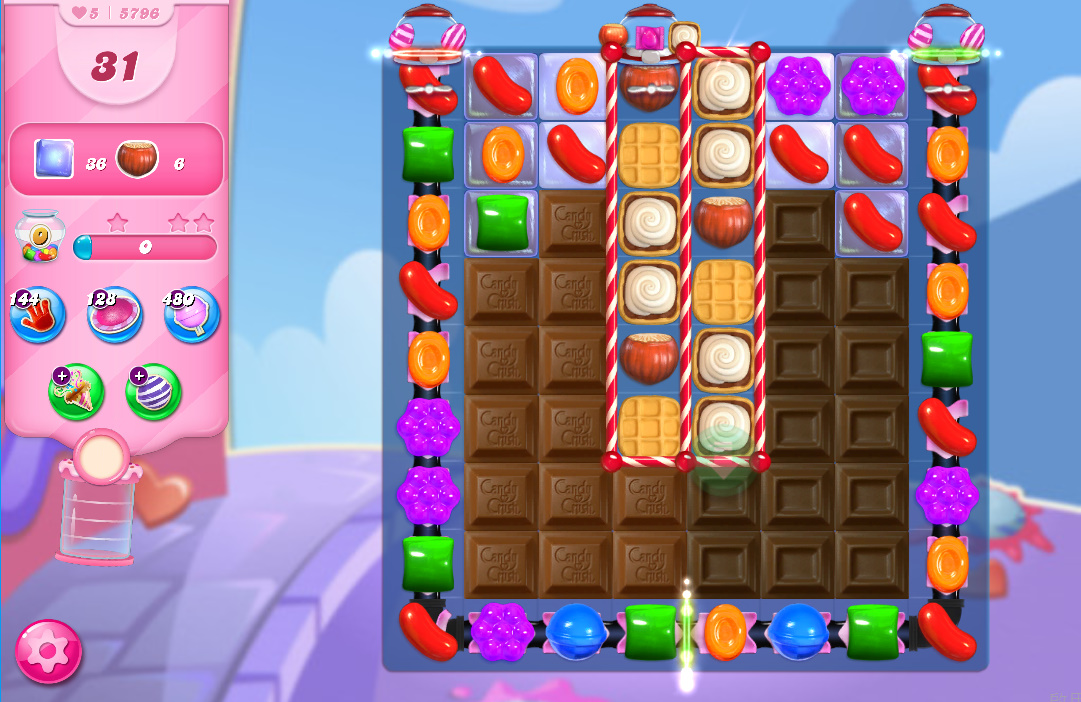 Candy Crush Saga level 5796