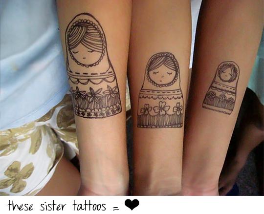 Russian dolls tattoo