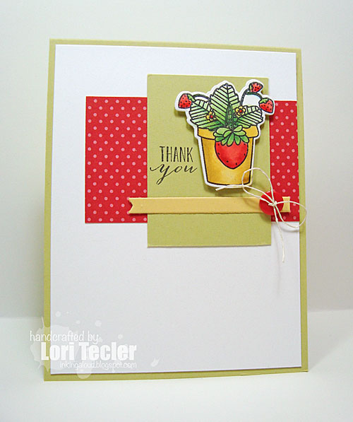 Thank You card-designed by Lori Tecler/Inking Aloud-stamps from Mama Elephant