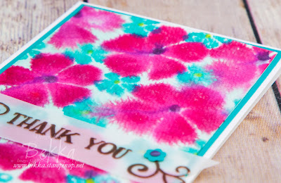 How Make Easy Watercoloured Flowers Using Fresh Fruit from Stampin' Up! UK Free Video Tutorial