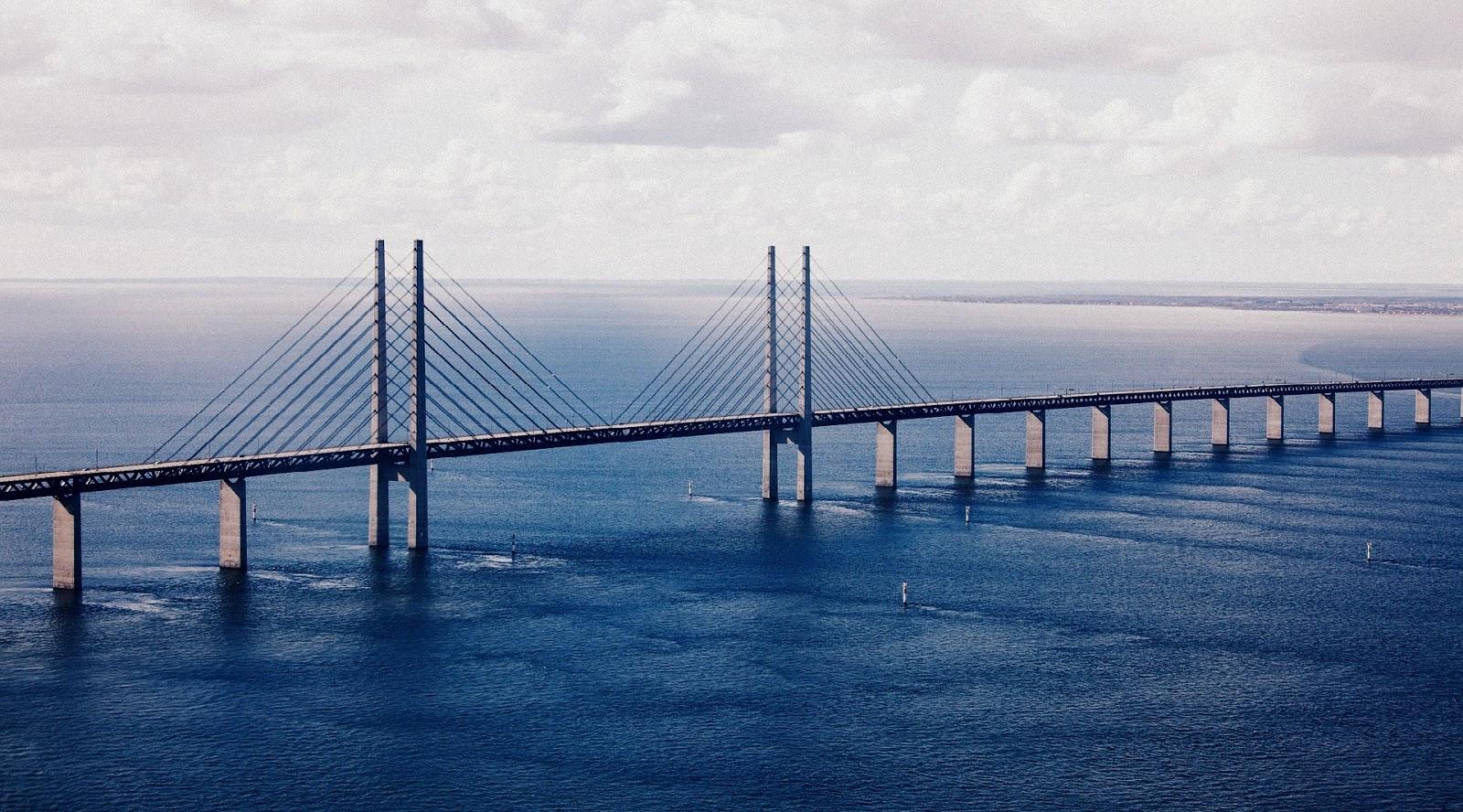The Oresund Bridge panorama view