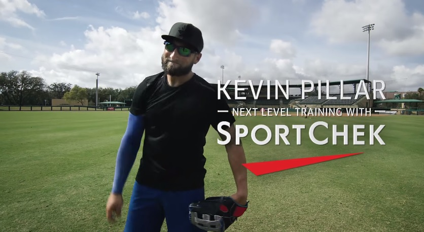 Blue Jays Kevin Pillar Takes Out Drones In Sport Cheks Next Level Training Ad