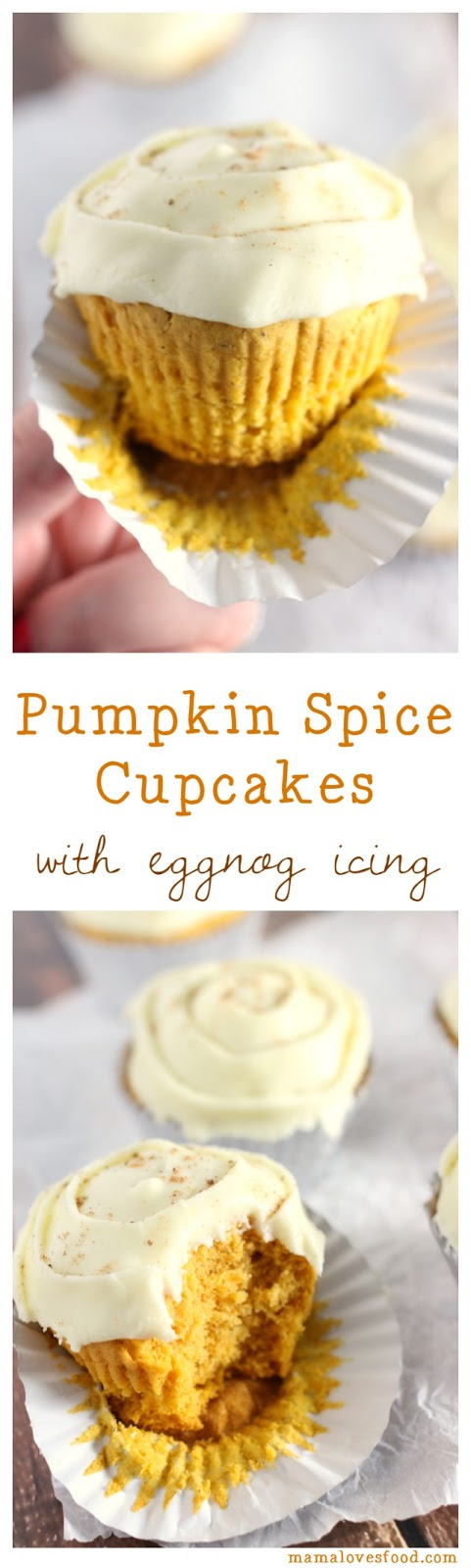 Pumpkin Spice Cupcakes With Eggnog Frosting Mama Loves Food