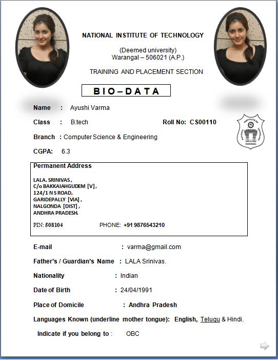 Newest Resume Format | Resume Format Download Pdf