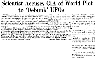 Scientist Accuses CIA of World Plot to 'Debunk' UFOs - Philadelphia Inquirer 7-9-1967