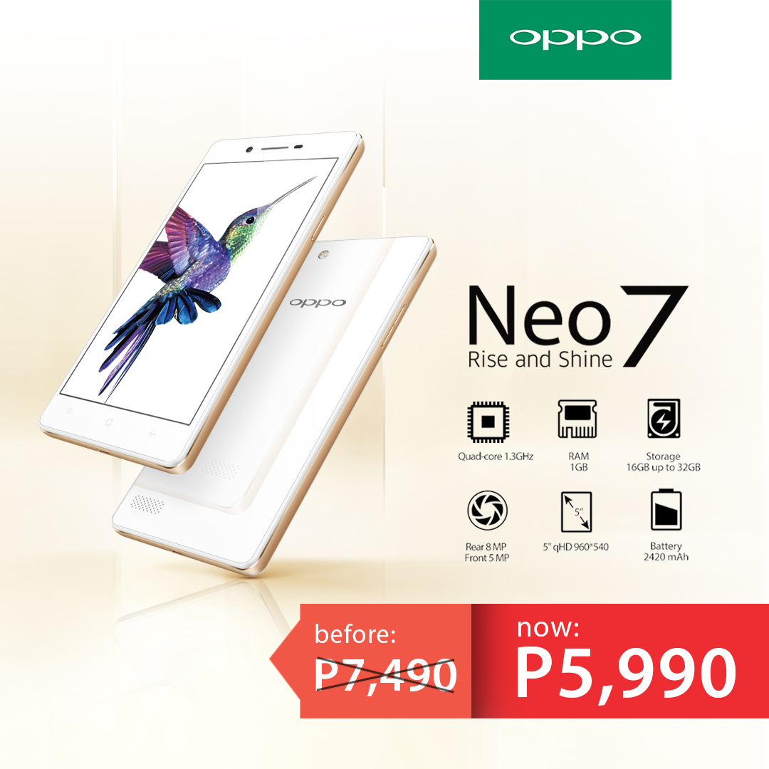 OPPO Neo7 Price Drop