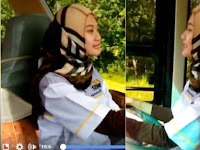 Hijaber Cantik ini Hebohkan Netizen Karena Jadi Supir Bus, Ternyata Dia Adalah....