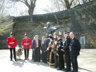 Private Derby with the Lord Mayor, Robin Hood and others