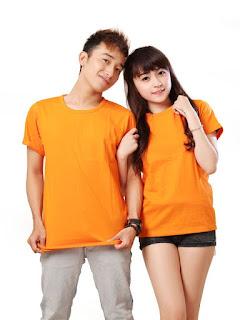 áo phông màu cam