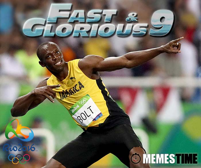 Memes Time Usain Bolt Rio 2016 Vendedor dos 100 e 200 metros e Estafeta 4 x 100 metros – Fast & Glorious 9