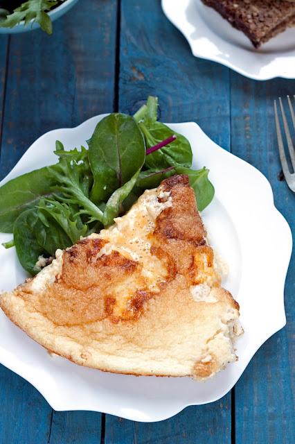 omlet z wędzonąrybą