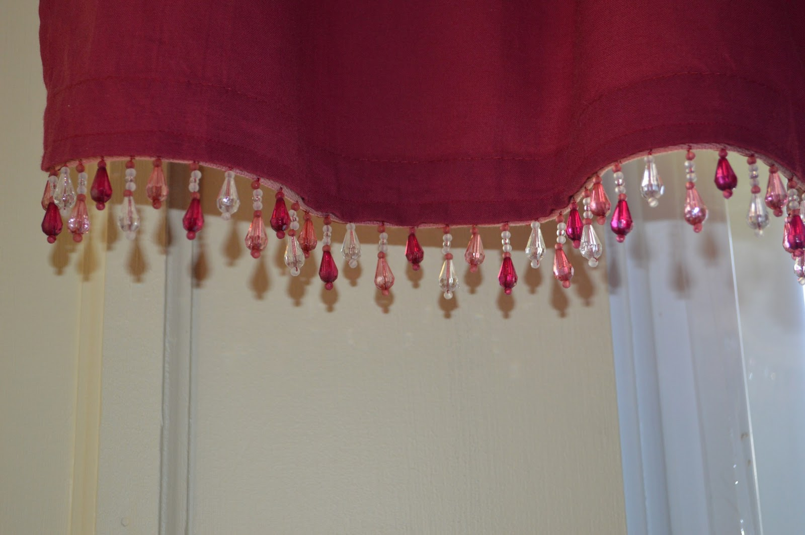 Adding beads to curtains