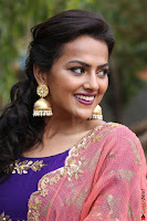 Actress Shraddha Srinath in Purple Chania Choli Cute Pics ~  Exclusive 14.jpg