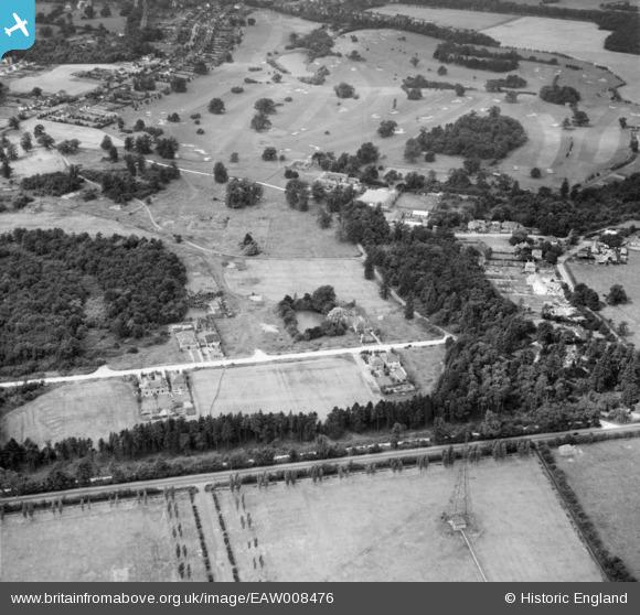 Aerial photograph of Pine Grove and Brookmans Park Golf Course, Brookmans Park, 1947