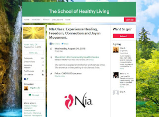 The School of Healthy Living invites you to join them for Nia Dance classes on Wednesdays at 7:30pm!
